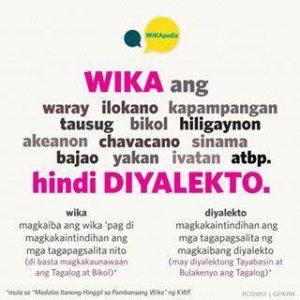 FILIPINO BILANG WIKA NG PAGKAKAISA: 'DI NGA?'